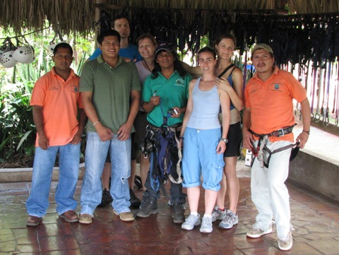 Canopy tour group